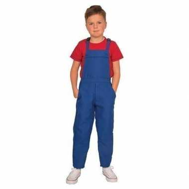 Blauwe tuinbroek/carnavalskledingl kinderen roosendaal