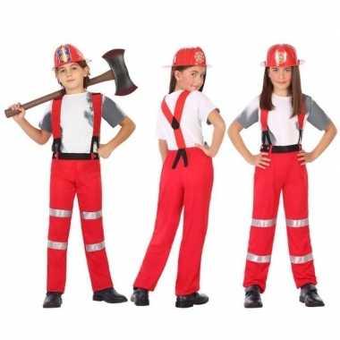 Brandweer carnavalskleding / verkleed carnavalskleding jongens meisje