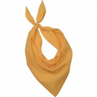 Bandana/zakdoek geel volwassenen carnavalskleding roosendaal