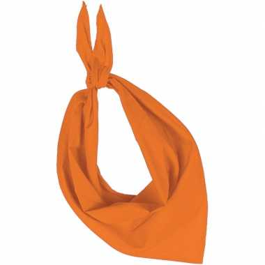 Bandana/zakdoek oranje volwassenen carnavalskleding roosendaal