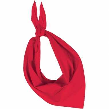 Bandana/zakdoek rood volwassenen carnavalskleding roosendaal