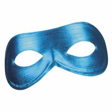 Blauw metallic oogmasker dames carnavalskleding roosendaal