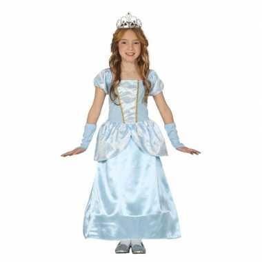 Blauw prinsessen verkleedjurkje meisjes carnavalskleding roosendaal