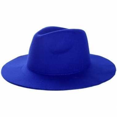 Blauwe cowboyhoed volwassenen carnavalskleding roosendaal