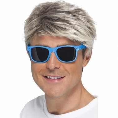 Blauwe neon feestbril volwassenen carnavalskleding roosendaal