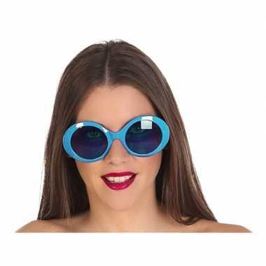 Blauwe ronde verkleed zonnebril carnavalskleding roosendaal