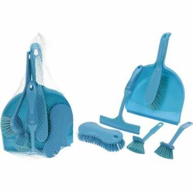 Carnavalskleding blauwe schoonmaak set roosendaal