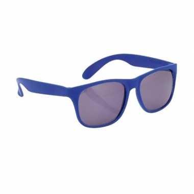 Blauwe zonnebril carnavalskleding roosendaal