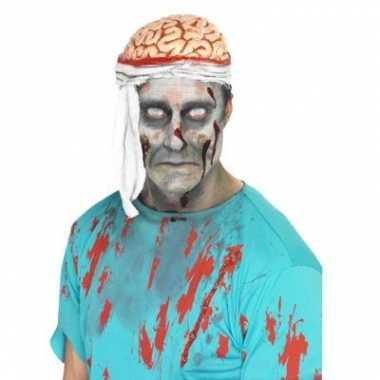 Bloederige hersenen hoedje carnavalskleding roosendaal