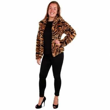 Bontjas tijger print dames carnavalskleding roosendaal