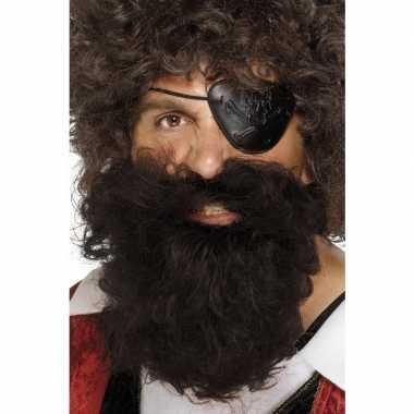 Bruine piraten baard heren carnavalskleding roosendaal