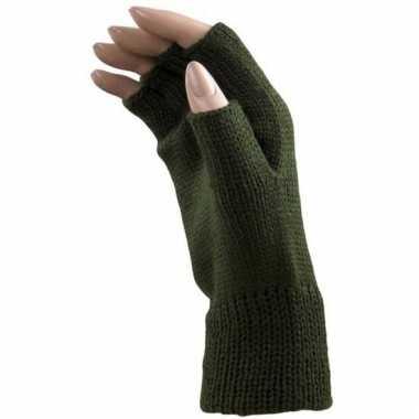 Carnaval vingerloze handschoenen groen volwassenen carnavalskleding r