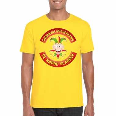 Carnavalsvereniging harde plasser limburg heren t shirt geel carnaval