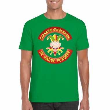 Carnavalsvereniging harde plasser limburg heren t shirt groen carnava