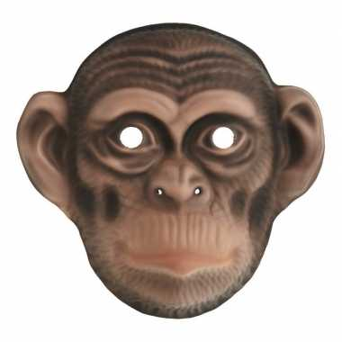 Chimpansee verkleed apen dierenmasker kinderen carnavalskleding roose