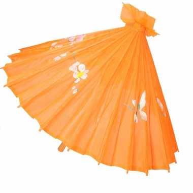 Chinese paraplu oranje carnavalskleding roosendaal