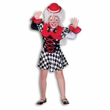 Clowns jurkje meisjes carnavalskleding roosendaal