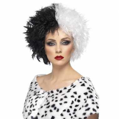 Cruella pruik dames carnavalskleding roosendaal