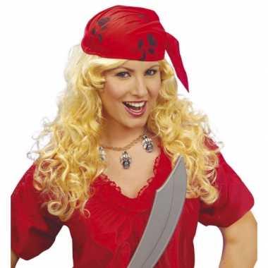 Dames piraten pruik bandana carnavalskleding Roosendaal