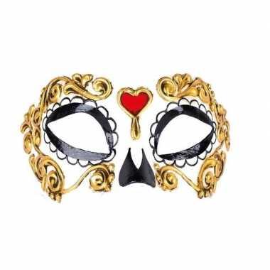 Carnavalskleding day of the dead bella morte oogmasker roosendaal
