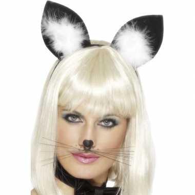 Diadeem katten/poezen oren dames carnavalskleding roosendaal