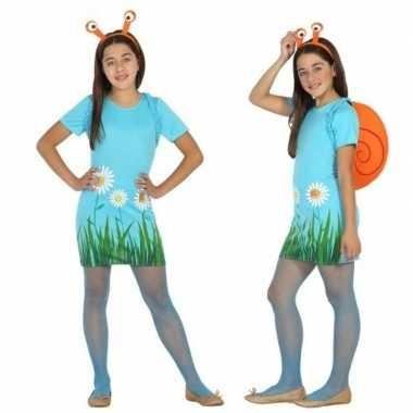 Dieren verkleed jurk/jurkje slak/slakken meisjes carnavalskleding roo