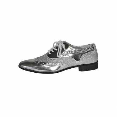Carnavalskleding disco heren schoenen zilver roosendaal