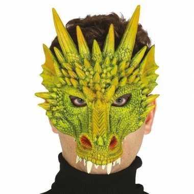 Draak/draken horror masker foam carnavalskleding roosendaal