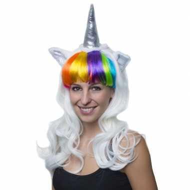 Eenhoorn verkleed pruik dames carnavalskleding roosendaal