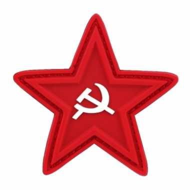 Carnavalskleding embleem rode ster sikkel hamer roosendaal