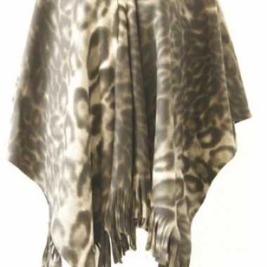Carnavalskleding fleece poncho panter print roosendaal