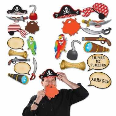 Foto prop set piraat carnavalskleding roosendaal