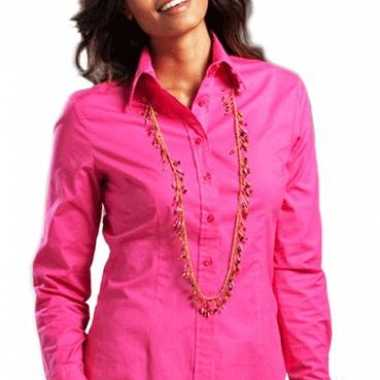Carnavalskleding fuchsia dames overhemd lange mouwen roosendaal