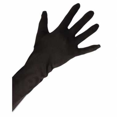 Gala handschoenen lang zwart volwassenen carnavalskleding roosendaal