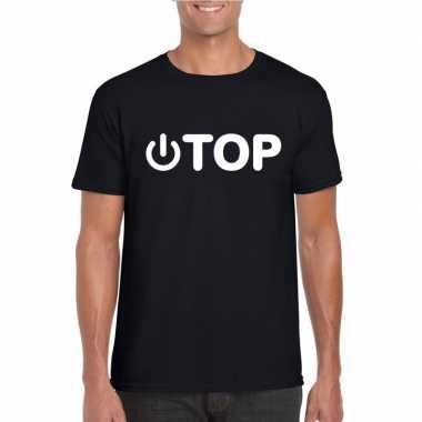 Gay shirt power top zwart heren carnavalskleding roosendaal