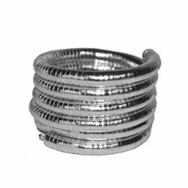 Gedraaide zilveren armband carnavalskleding Roosendaal