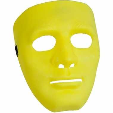 Geel gezichtsmasker carnavalskleding Roosendaal