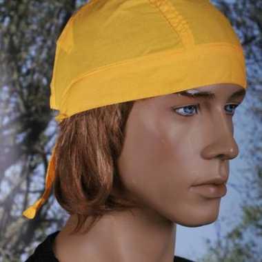 Carnavalskleding geel kleurige bandana uni roosendaal