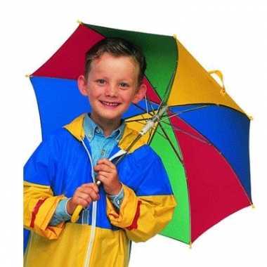 Carnavalskleding gekleurde kinder paraplu roosendaal