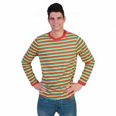 Carnavalskleding gestreept heren shirt dorus roosendaal