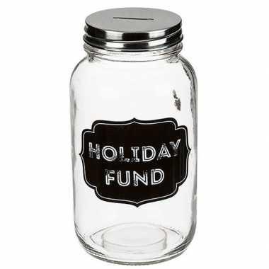 Glazen spaarpot holiday fund carnavalskleding roosendaal