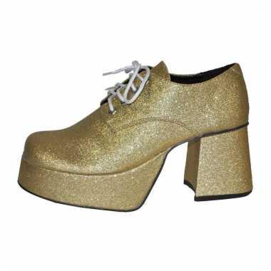 Glitter plateau schoenen goud carnavalskleding Roosendaal