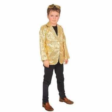 Goud glitter verkleed jasje kinderen carnavalskleding roosendaal