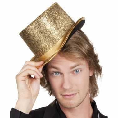 Carnavalskleding gouden hoge hoed roosendaal