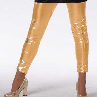 Gouden kinder legging carnavalskleding Roosendaal