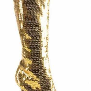Gouden pailletten laarzen carnavalskleding roosendaal