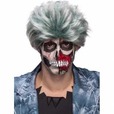 Carnavalskleding grijze zombiepruik heren roosendaal
