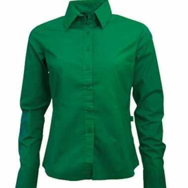 Carnavalskleding groen dames overhemd lange mouwen roosendaal