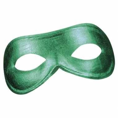 Groen metallic oogmasker dames carnavalskleding roosendaal