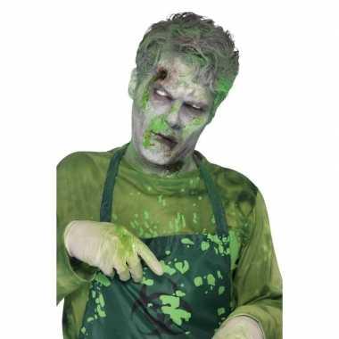 Groen monster nepbloed/filmbloed ml carnavalskleding roosendaal